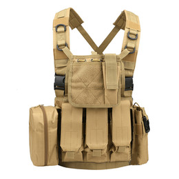 China Tactical Army Vest Marine Land Triple Magazine Paintball Accessory Pouch Molle Combat Strike Plate Carrier Men Tactical Vests cheap tactical paintball vests suppliers
