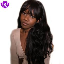 $enCountryForm.capitalKeyWord Australia - High quality simulation brazilian human hair full wig with bang black brown grey long body wavy Wigs for Black Women African American