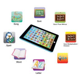 Crianças Crianças Tablet PAD Toy Reading Educacional aprendizagem brinquedos presente para as meninas Bebés Meninos Inglês Brinquedos em Promoção