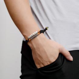 $enCountryForm.capitalKeyWord Australia - Boeycjr Tibetan Buddhism Bangles & Bracelets Fashion Jewelry Handmade 999 Silver Bar Braided Rope Bracelet For Men For Women J190707