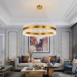 Under kitchen online shopping - DHL New Modern Crystal Chandelier For Living Room Gold LED Lustres De Cristal Home Decoration Hanging Lighting Fixtures