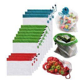 $enCountryForm.capitalKeyWord Australia - 12Pcs Reusable Multi-Purpose Shopping Bags for Vegetables Fruits Toys Storage Large Capacity Top-ranking Material Environmental Bag