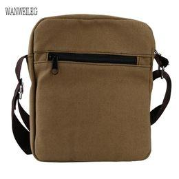 Wholesale Canvas Cross Shoulder Bag NZ - New Men bag 2019 fashion man shoulder bags High quality Canvas casual messenger business men's travel bags Male Hot Sell @P