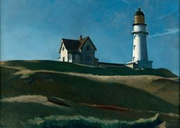 edward figure UK - Edward Hopper Lighthouse Hill Home Decor Handpainted &HD Print Oil Painting On Canvas Wall Art Canvas Pictures 200208