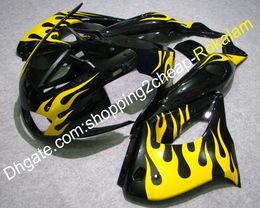 $enCountryForm.capitalKeyWord Australia - YZF-1000R 97-07 Fairing Bodywork Parts For yamaha YZF1000R Thunderace 1997-2007 YZF 1000R Yellow Flame Black ABS Fairings Aftermarket Kit