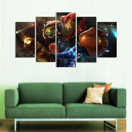 $enCountryForm.capitalKeyWord Australia - Metroid Samus,5 Pieces The Latest Most Popular High-definition Canvas Printed Home Decorative Art  Unframed   Framed