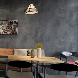 Plain Paper Rolls Australia - Retro Plain Grey PVC Vinyl Wallpaper For Walls Living Room Bar Cafe Restaurant Clothing Shop Background Wallpaper Roll
