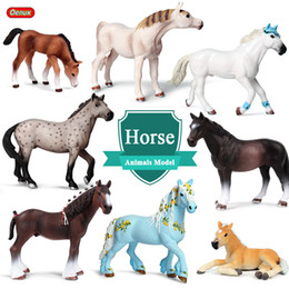 $enCountryForm.capitalKeyWord NZ - wholesale Farm Animals Horse Model Simulation Wildlife Steed Quarter Clydesdale Horse Action Figures Figurines PVC Collection Toy