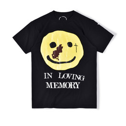 20ss In Hot American CPFM.XYZ Yams Day In loving Memory Smiley T Skateboard Mens Designer T-Shirt Frauen Straße Luxus Lässige T-Shirts