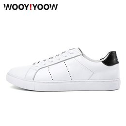 $enCountryForm.capitalKeyWord Australia - Men's white shoes spring and autumn new men's casual breathable flat shoes High Quality Genuine Leather factory Outlet