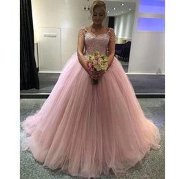 Beading Charms Australia - Charming Pink Quinceanera Dresses Sweetheart Beading Lace Appliques Sweet 16 Dress Puffy Tulle Tiered Women's Special Occasion Gowns