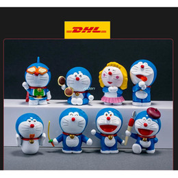 $enCountryForm.capitalKeyWord Australia - 8 Pcs set Q Version Doraemon Causeway to burn Cartoon Cake Decoration Birthday Present Plastic Action Collectible Model Toy 4CM OPP G144