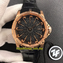 round folding tables Australia - ZF Top version Excalibur 45 RDDBEX0511 Twelve Round Table Knights Dial Miyota 9015 Automatic Mens Watch 18K Rose Gold Case Designer Watches