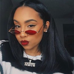 sunglasses sizes Australia - small oval sunglasses Women vintage metal frame glasses Fashion small size Red Yellow Clear Lens Sun Glasses 2018 New UV400