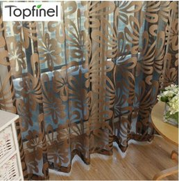 Wholesale Geometric Modern Window Sheer Curtain Panels for Living Room the Bedroom Kitchen Blinds Window Treatments Draperies