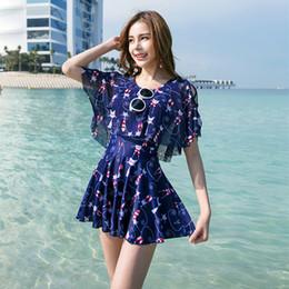 2568508c78e Nodelay One Piece Swimsuit Lovely Cartoon Skirt Swimwear Women Beachwear  Printed Bathing Suit 2019 Girls Conservation Swim Suit Y19062901