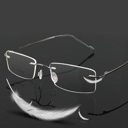3917d9e3a0c Vazrobe (3g) Titanium Rimless Glasses Frame Men Women Optical Clear Lens  Man Prescription Spectacles Eyeglasses Ultra-light Male