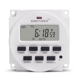 Wholesale SINOTIMER V Weekly Days Programmable Digital Time Switch Relay Timer Control for Electric Appliance ON OFF Setting