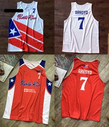 basketball miami NZ - Vintage Carlos Arroyo #7 Puerto Rico Basketball Jerseys World Cup Miami Jerseys