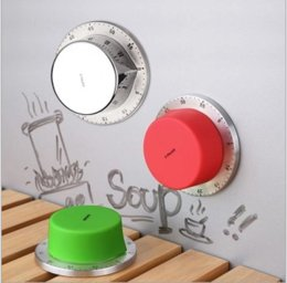Round Kitchen Sets Australia - Mechanical Timer Stainless Steel Round Shape Timers For Home Kitchen 60 Minutes Alarm Countdown Tool High Quality