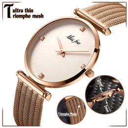 $enCountryForm.capitalKeyWord NZ - Women Watches Luxury 2018 Ultra Thin Rose Gold Watch Triomphe Mesh Brand Minimalist Lady Watch For Women Golden Clock Hour Gifts Y19052001