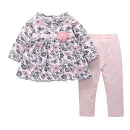 $enCountryForm.capitalKeyWord Australia - Baby Girl Floral Clothes Set Dress+Pant Newborn Cotton Baby Clothes Infant Clothing Set Two-pieces Dress and Pant Autumn-Winter Baby Clothes