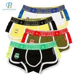 $enCountryForm.capitalKeyWord Australia - Fashion-Pink Heroes 4pcs lot Men Boxers Fight Side Fashion Mens Underwear Breathable Cotton Men Cloth Flat Foot Underpants For Boxer