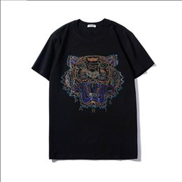 China Summer Brand T-shirt For Men Designer T shirts With Tiger Head Luxury Breathable Short Sleeve Men Tee Shirts Fashion Women Tops S-2XL cheap tiger print t shirts for women suppliers