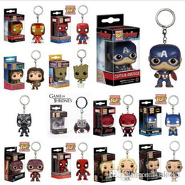 $enCountryForm.capitalKeyWord Australia - US funko pop toys 14 Designs 5cm marvel avenger Funko Pop action figures PVC key chains Doll with retail box Kids toys gifts