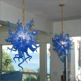 $enCountryForm.capitalKeyWord Australia - Led Source 100% Hand Blown Murano Glass Ceiling Lights Wedding Decor Flower Designed Crystal Chandelier Hand Blown Glass Pendant Lamps