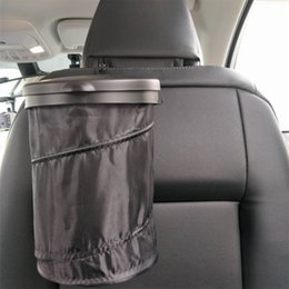 trash car UK - nterior Accessories Trash Trash Bin Cans Folding Garbage Dust Holder Rubbish Cases Car Organizer Storage Bag Seat Waste Container Car I...