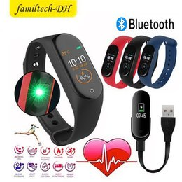 $enCountryForm.capitalKeyWord Australia - New M4 Smart Bracelet Band Wristbands Fitness Tracker Health Heart Rate Monitor Bluetooth smartwatch support life waterproof