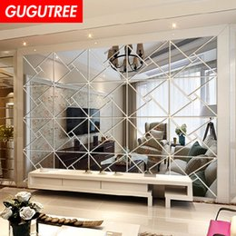 $enCountryForm.capitalKeyWord Australia - Decorate Home 3D geometry mirror art wall sticker decoration Decals mural painting Removable Decor Wallpaper G-218