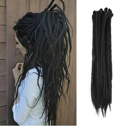 $enCountryForm.capitalKeyWord NZ - Hot! 20 inch Dreadlocks Hair Extension For Women And Men Handmade Dreads Kanekalon Braiding Hair 10Strand lot Crochet Braids Hairstyles