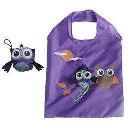 $enCountryForm.capitalKeyWord Australia - Foldable Shopping Bag Cute Cartoon Owl Eco Friendly Ladies Reusable Grocery Bag Tote Lady Portable Travel Shoulder