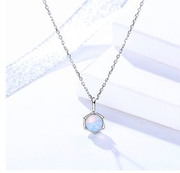 $enCountryForm.capitalKeyWord NZ - woman's necklaces jewelry girls pure 925 silver dreamlike ball pendants choker short chains choker ornaments summer fashion exquisite 6 pcs