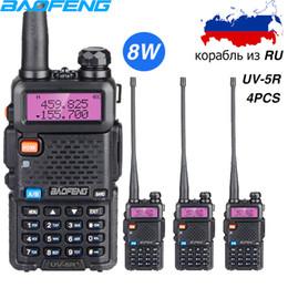 ham two way radio transceiver 2019 - 4PCS Real 8W Walkie Talkie Baofeng UV 5R Dual Band FM Transceiver VHF UHF Two Way Radio UV5RHP High Power Hunting CB ham