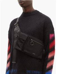 venda por atacado Excelente qualidade saco Corpo Cruz para homens orignal mensageiro saco branco designer de bolsa do homem à prova de água bolsa de ombro pára-quedas da bolsa