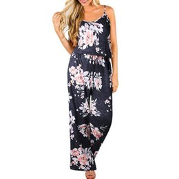 $enCountryForm.capitalKeyWord NZ - Fashion Boho Jumpsuit Trousers Women Summer Beach Style Sleeveless Sexy Rompers Ladies Casual Long Playsuits Overall Pants #Ju