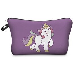 cute small cosmetic bag Australia - Fashion Cosmetic Unicorn Bag Print Women makeup bags Cute small bag headset candy Cosmetic Bagsdigital printing Polyeste