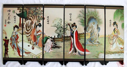 Painting Faces Australia - Chinese Boutique collection Lacquer ware painting Four beauties folding screen