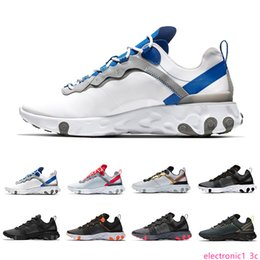 waterproof running shoes for men NZ - Taped Seams Solar Red React Element 55 Total Orange Men Running Shoes For Women Designer Sports Mens women Trainer 55s Sneakers 36-45