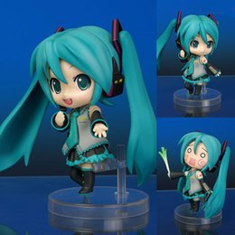 Discount hatsune miku nendoroid collection gift collection Boxed Anime Vocaloid Hatsune Miku #33 Nendoroid Cute PVC Action Figure Figurine Girl Resin Collection Mo