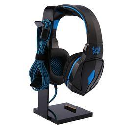 $enCountryForm.capitalKeyWord Australia - Universal Headphone Acrylic Headset Earphone Stand Holder Display for Headphones bracket for ipad Holder Black Rack Hanger