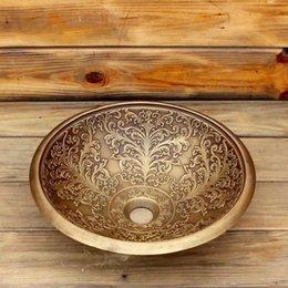 $enCountryForm.capitalKeyWord NZ - Bronze bathroom sink Bronze brass wash basin flushwash basin home stay hotel decoration wash basin