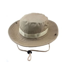 military hat wholesale Canada - Bucket Hats Outdoor Jungle Military Camouflage Bob Camo Bonnie Hat Fishing Camping Barbecue Cotton Mountain Climbing Hat