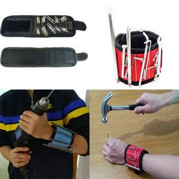 $enCountryForm.capitalKeyWord Australia - Strong Magnetic Wristband Pocket Wrist Support Tool Bag Hand Bracelet Pouch Bag Magnetic Screws Drill Holder