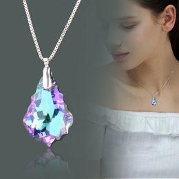 $enCountryForm.capitalKeyWord Australia - SINLEERY Gorgeous Purple White Crystal Pendant Necklace For Women Silver Color Snake Chain Custom Jewelry XL379 SSI