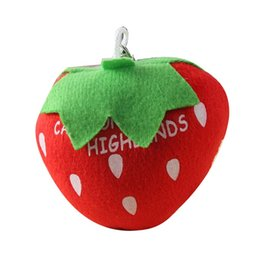 Vegetable Ornaments UK - Fruit Vegetable Short Plush Keychain Pendant Decor Key Ring Hanging Ornament Gift