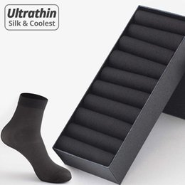 Wholesale coolest socks resale online - Brand Pairs Men Summer Socks High Quality Business Casual Thin Socks Breathable Bamboo Male Cool Socks Ultra thin Meias